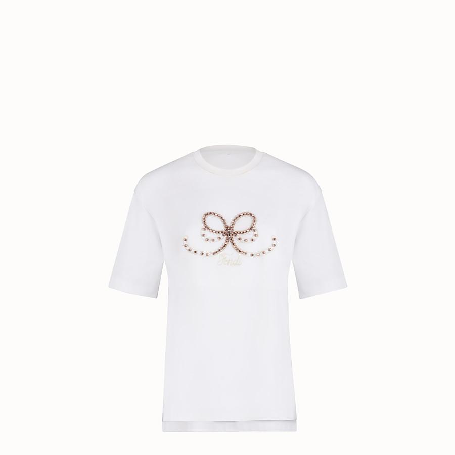 FENDI T 恤 - 白色棉質 T 恤 - view 1 detail
