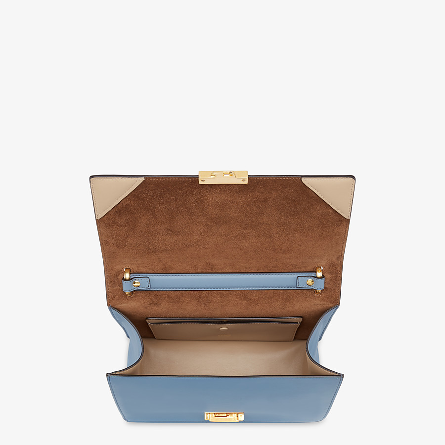 FENDI KAN U - Light blue leather bag - view 5 detail