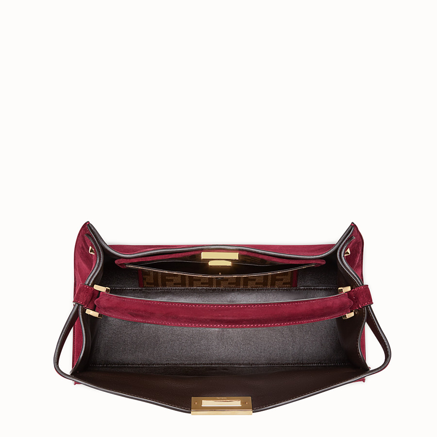 FENDI PEEKABOO X-LITE - Fuchsia coloured suede bag - view 6 detail