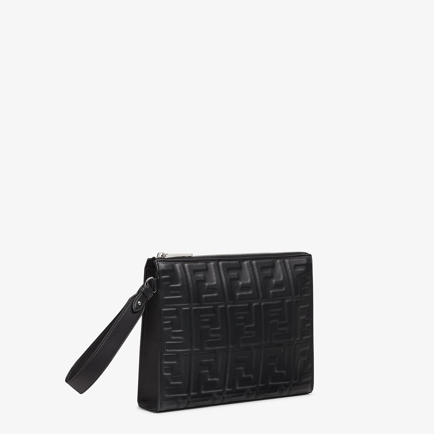 FENDI FLAT POUCH - Black nappa leather pouch - view 2 detail