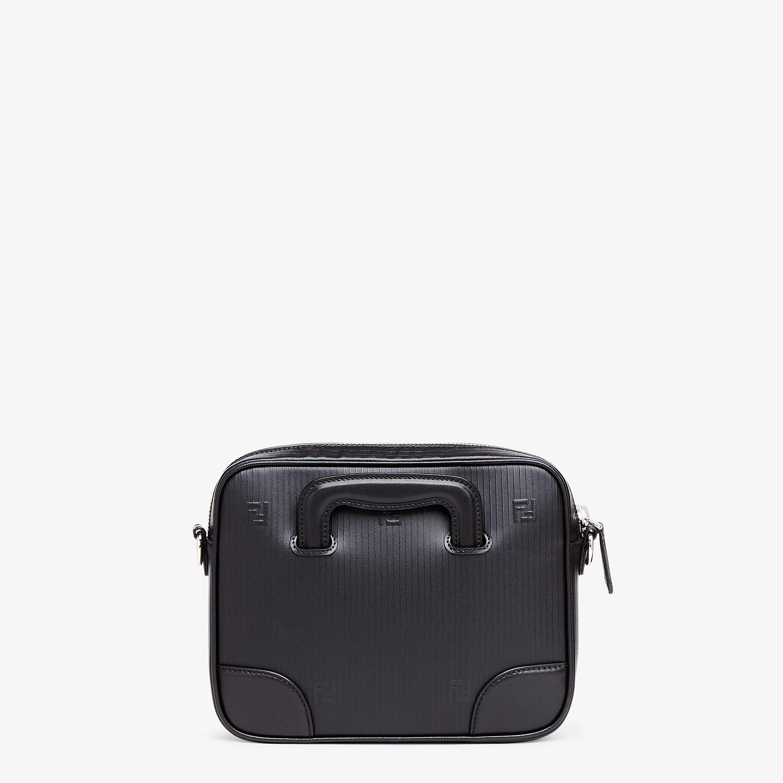 FENDI COMPACT MESSENGER BAG - Black leather bag - view 3 detail