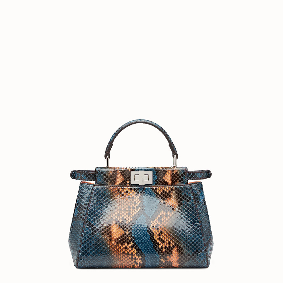 FENDI PEEKABOO MINI - Two-tone python handbag - view 3 detail