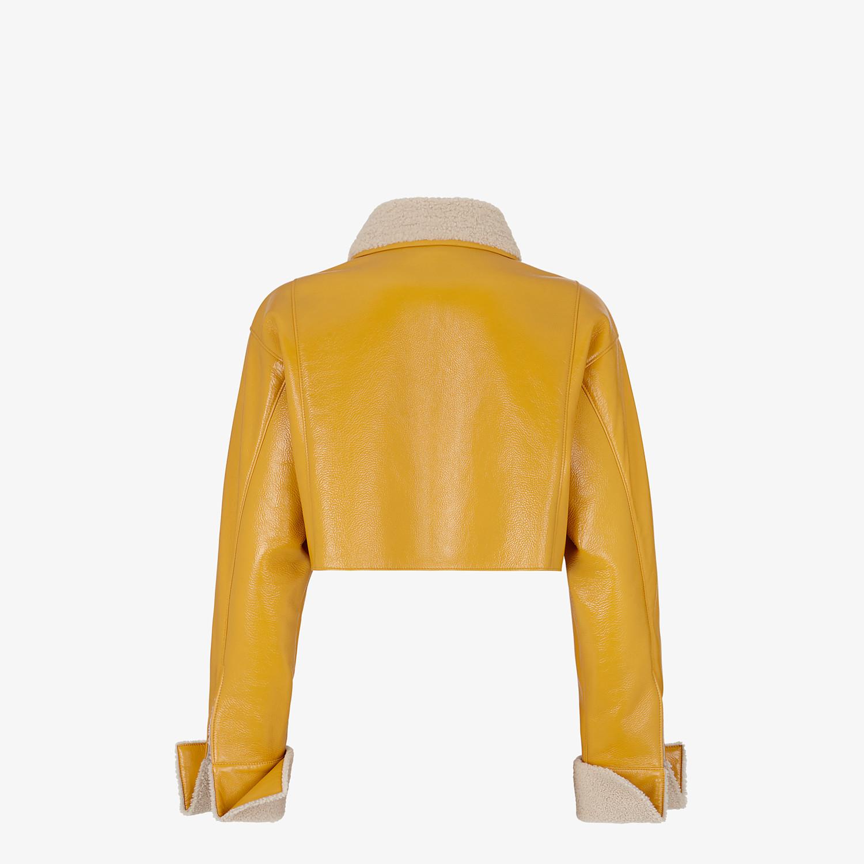 FENDI JACKET - Yellow shearling jacket - view 2 detail