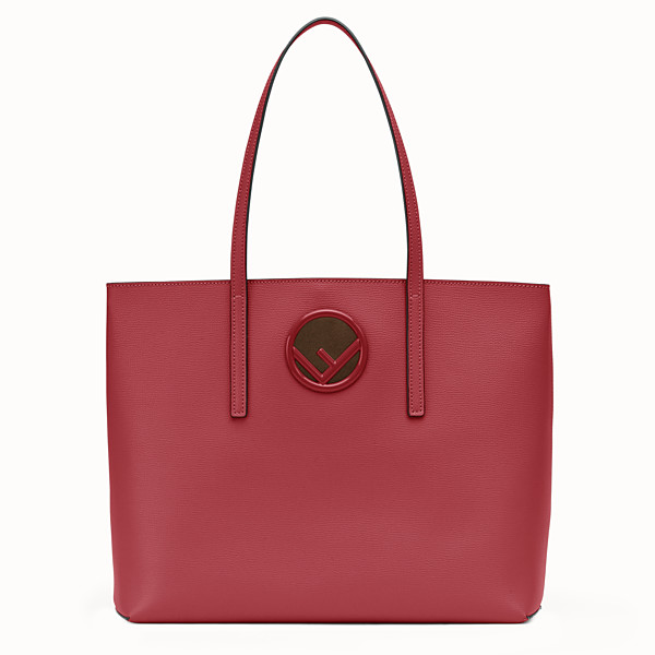 FENDI SHOPPING LOGO - Shopper in pelle rossa - vista 1 thumbnail piccola
