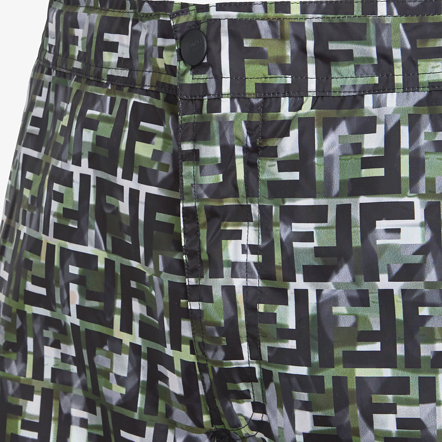 FENDI SWIMSUIT - Multicolor nylon Bermudas - view 3 detail