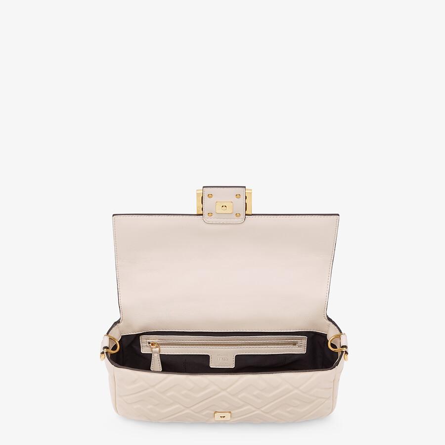 FENDI BAGUETTE - Camellia nappa leather bag - view 4 detail