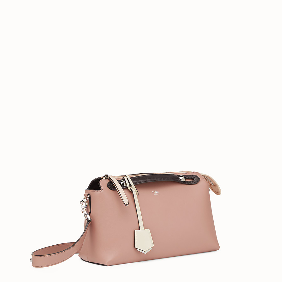 FENDI BY THE WAY REGULAR - Pink leather Boston bag - view 2 detail