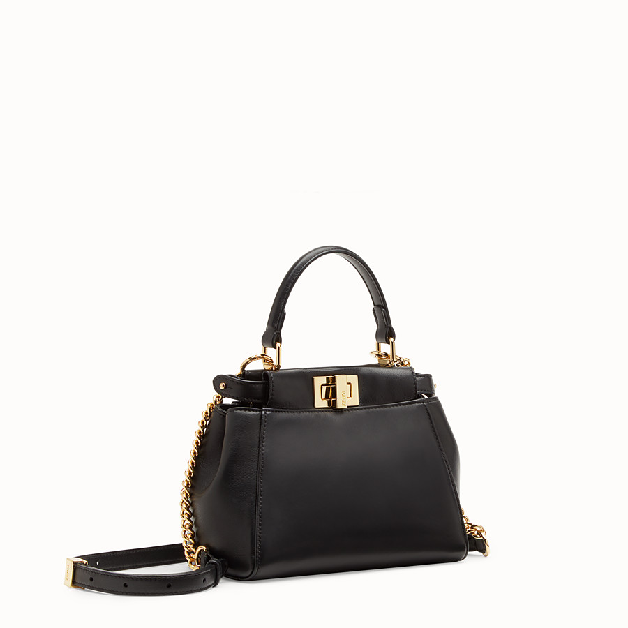 FENDI PEEKABOO XS - Black nappa leather minibag - view 3 detail