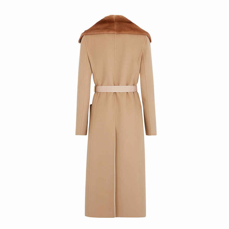 FENDI COAT - Beige cashmere coat - view 2 detail