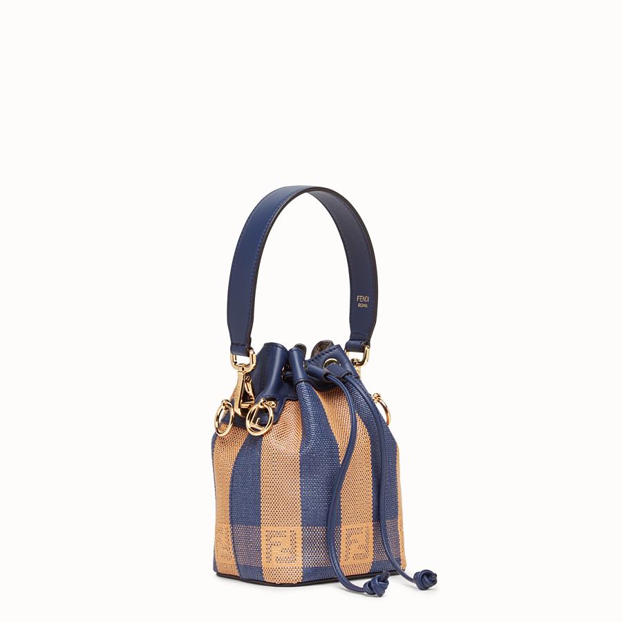 FENDI MON TRESOR - Blue raffia mini bag - view 2 detail