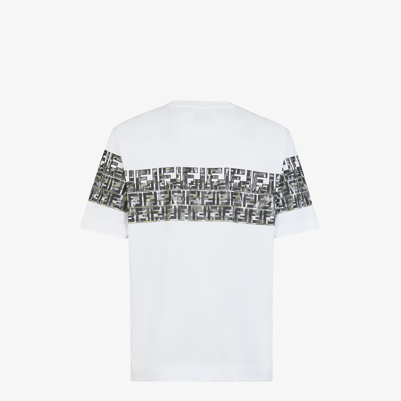 FENDI T-SHIRT - White cotton T-shirt - view 2 detail