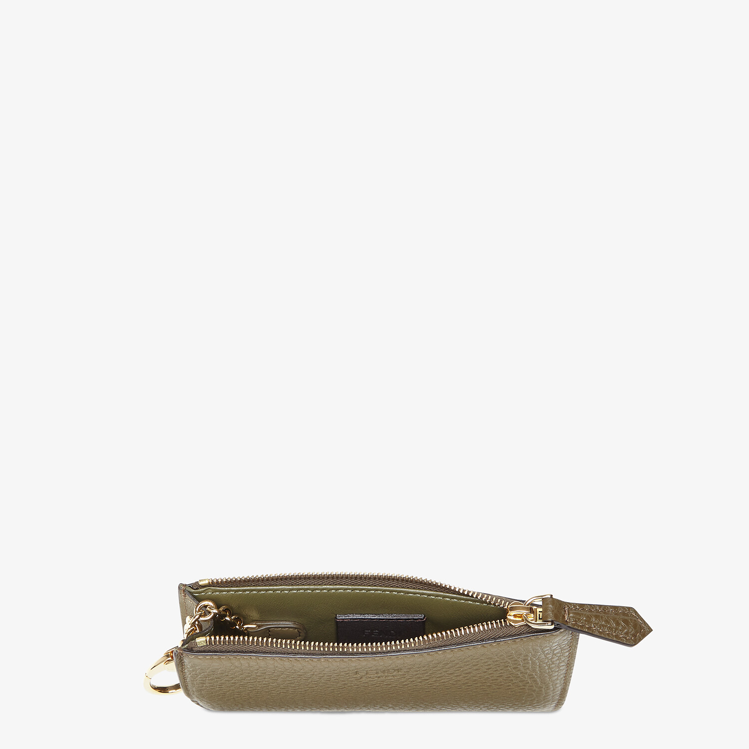 FENDI KEY CASE POUCH - Brown leather pouch - view 3 detail