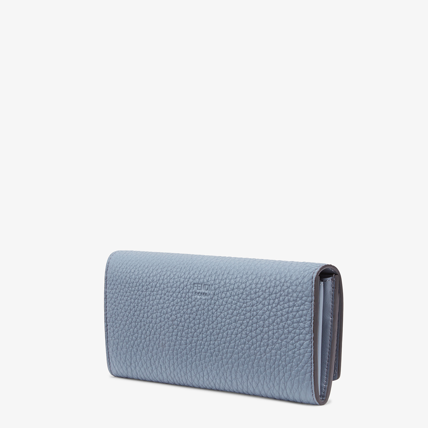 FENDI CONTINENTAL - Light blue leather wallet - view 2 detail
