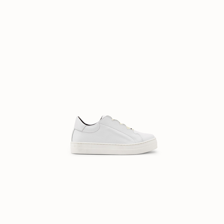 FENDI FIRST-STEPS SNEAKERS - White leather sneakers - view 1 detail