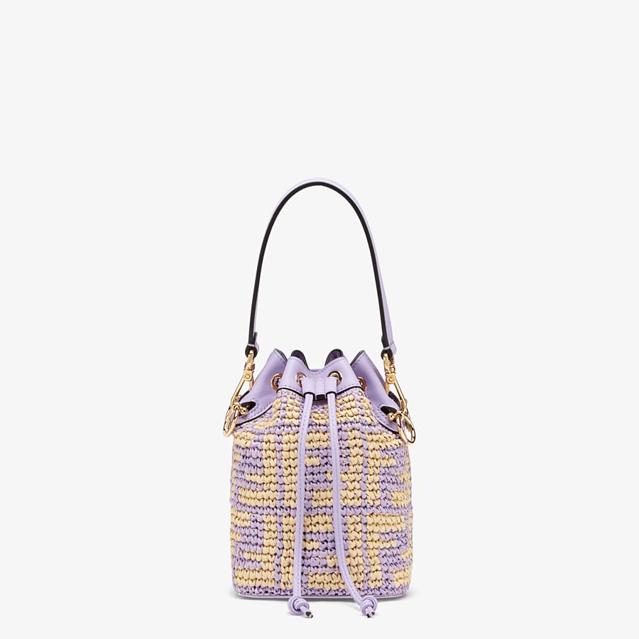 FENDI MON TRESOR - Lilac raffia mini-bag - view 1 detail