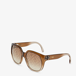 FENDI FENDI DAWN - Gradient effect injection-moulded sunglasses with FF logo - view 2 thumbnail