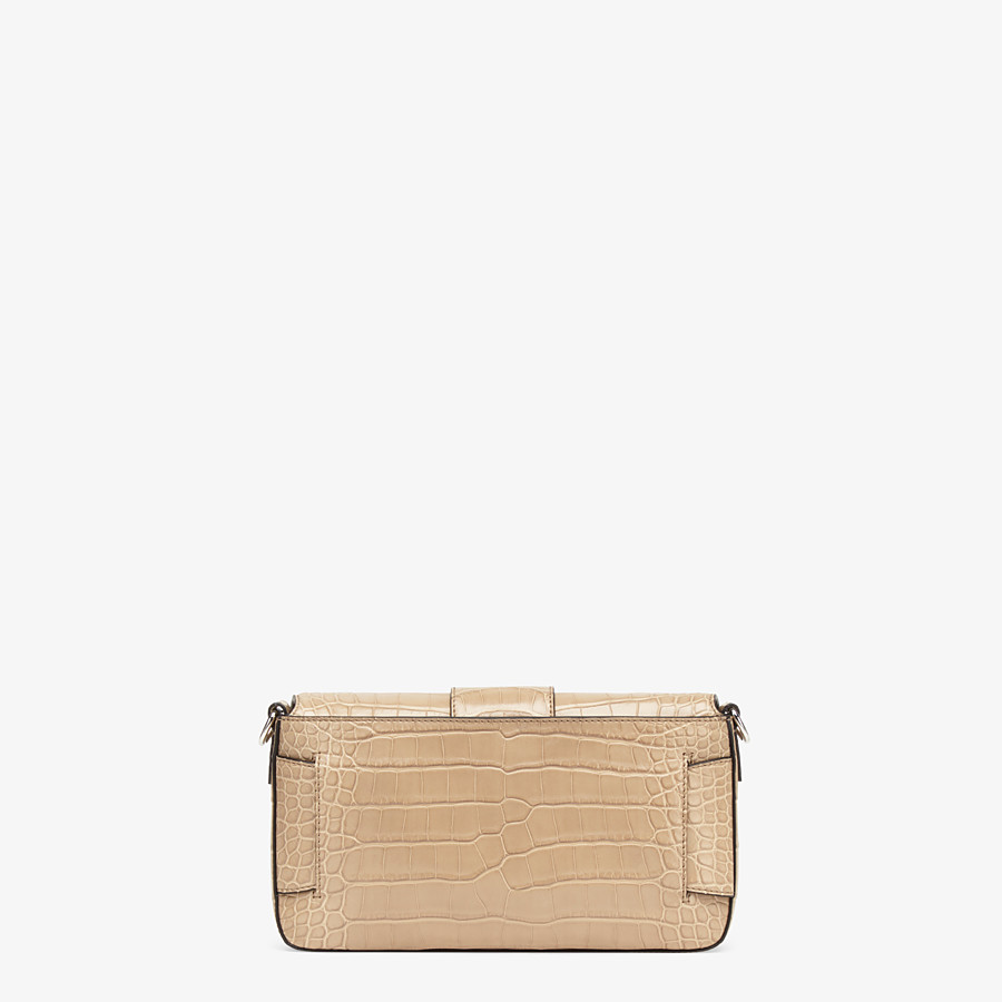 FENDI BAGUETTE - Beige alligator bag - view 4 detail