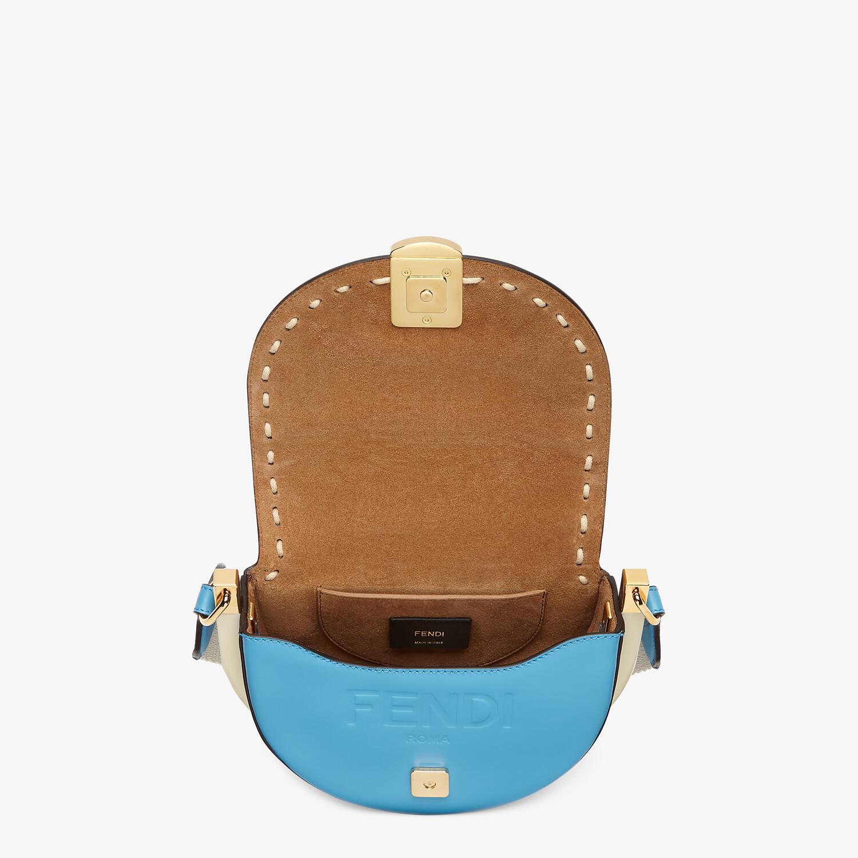 FENDI MOONLIGHT - Blue leather bag - view 5 detail