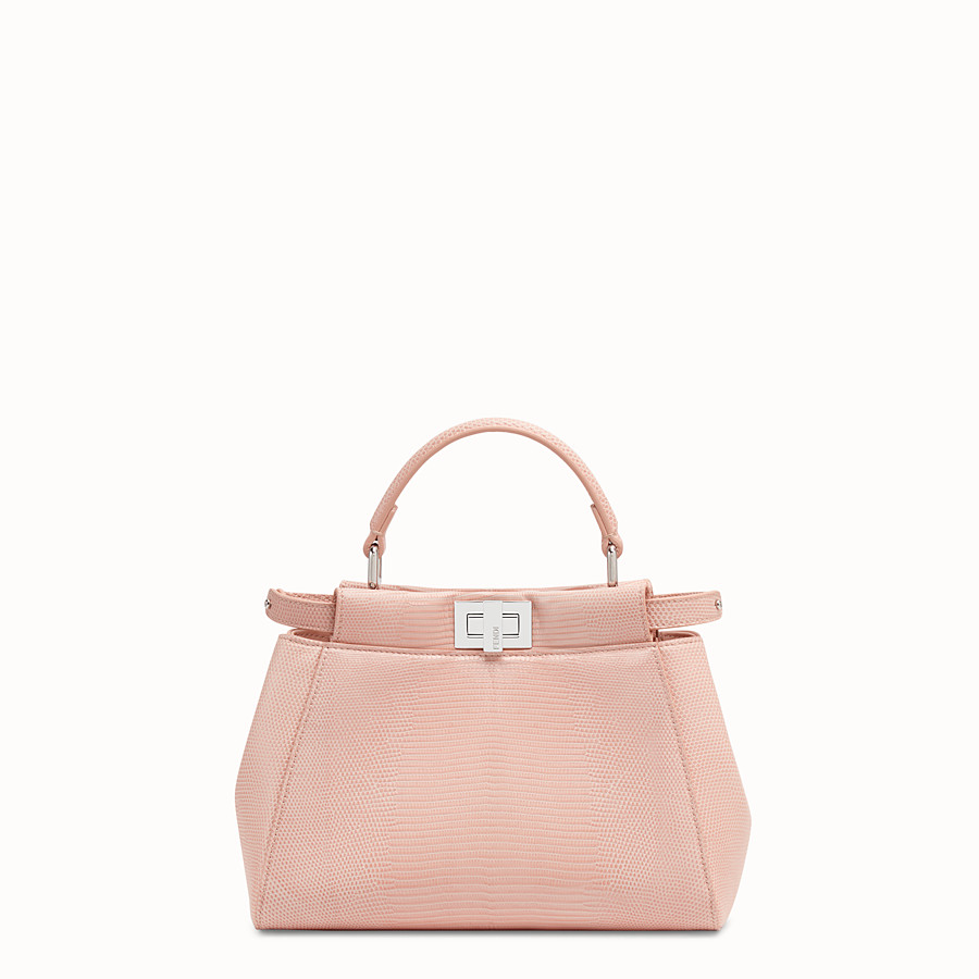 FENDI PEEKABOO MINI - Pink lizard leather bag - view 1 detail