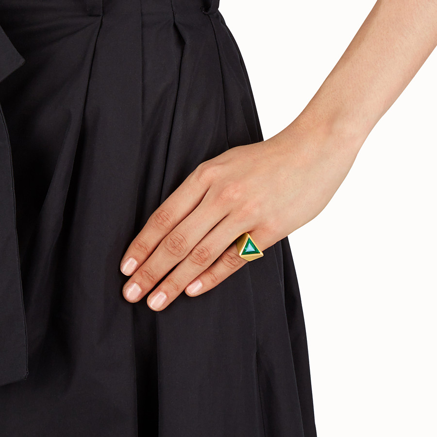 FENDI RAINBOW RING - Rainbow ring in metal and stone - view 2 detail