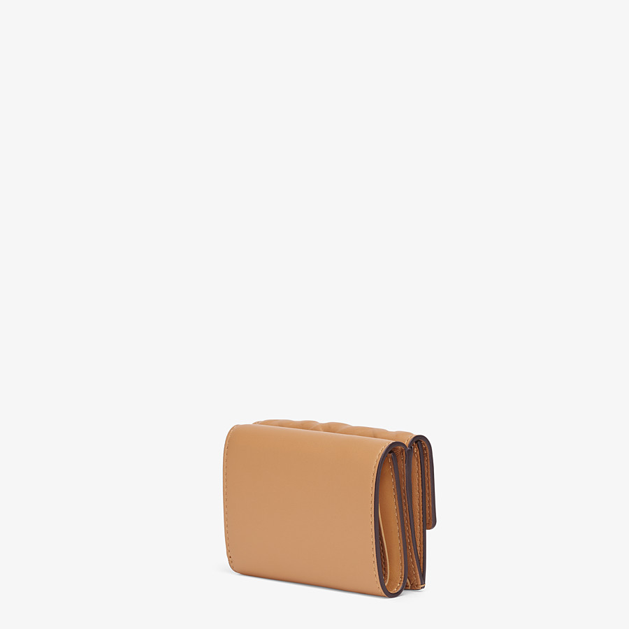 FENDI MICRO TRIFOLD - Beige nappa leather wallet - view 2 detail