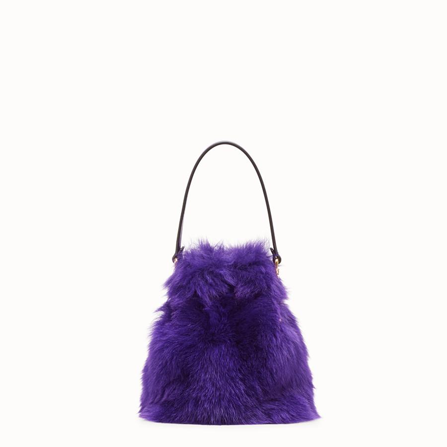 FENDI MON TRESOR - Purple sheepskin mini-bag - view 3 detail