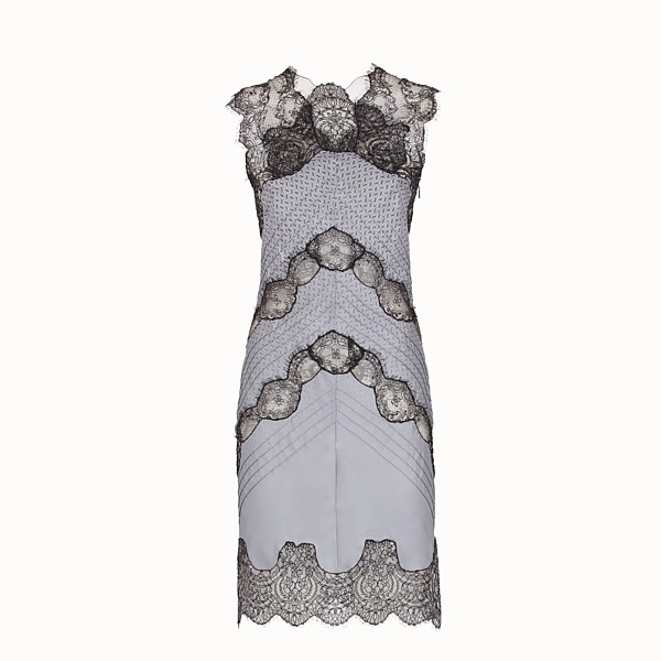 FENDI DRESS - Grey silk twill dress - view 1 small thumbnail