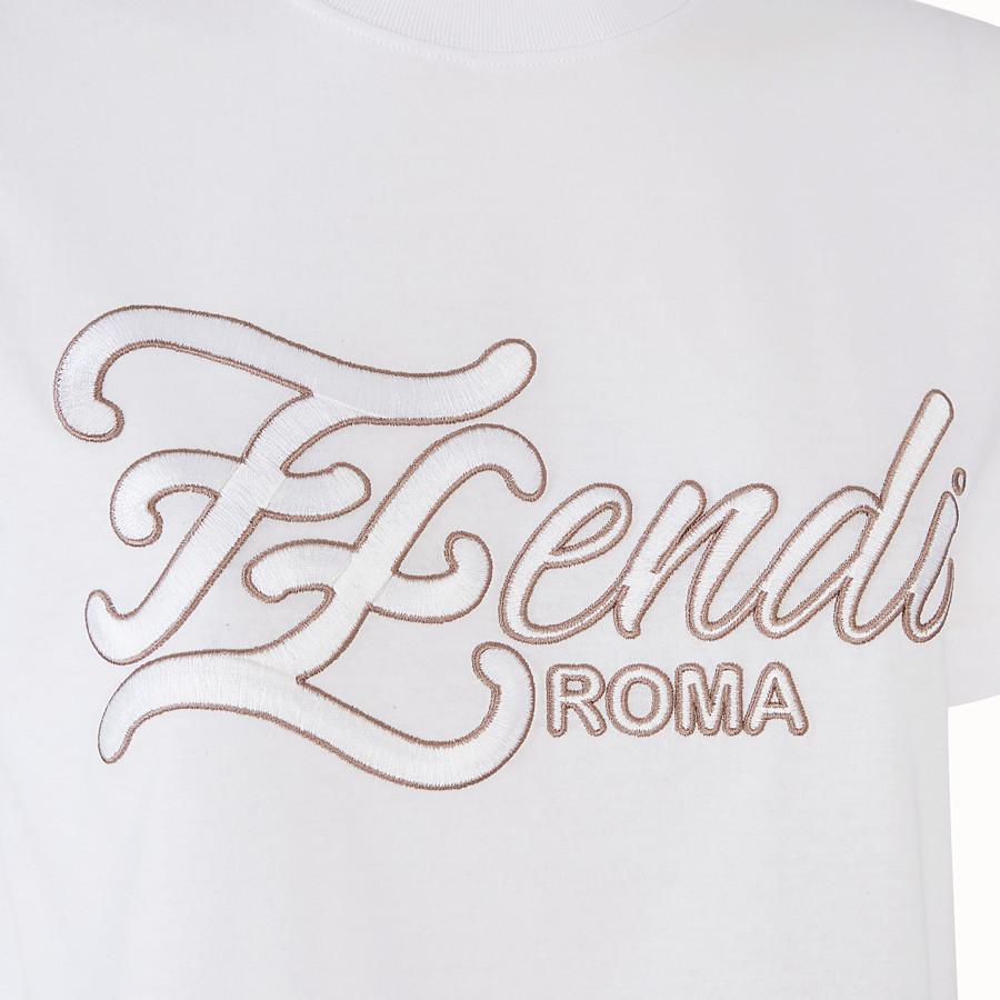 FENDI CAMISETA - Camiseta de punto color blanco - view 3 detail