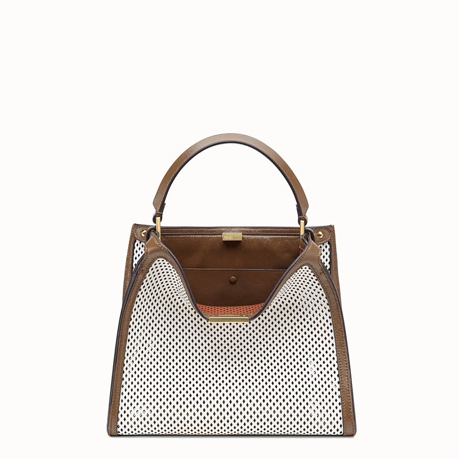 FENDI PEEKABOO X-LITE MEDIUM - White leather bag - view 3 detail