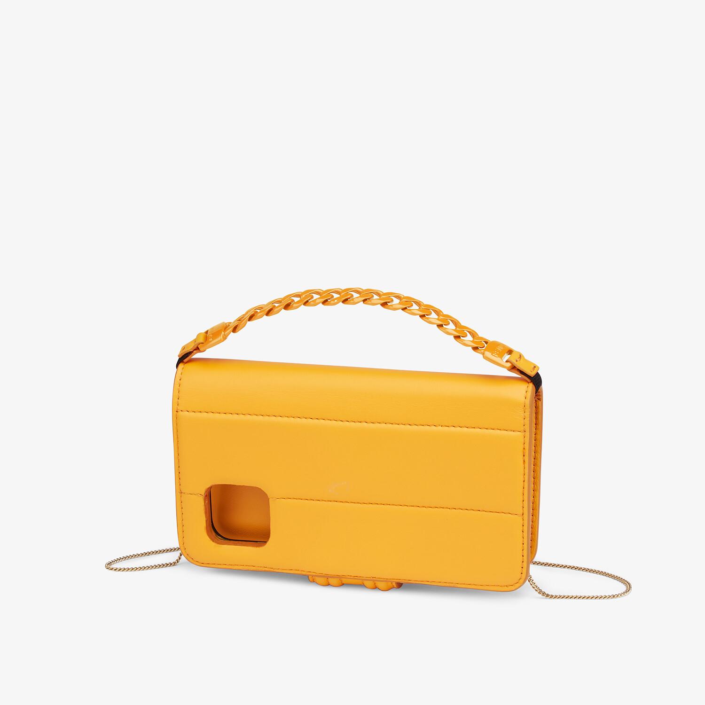 FENDI SMARTPHONE CASE - Orange nappa leather case - view 2 detail