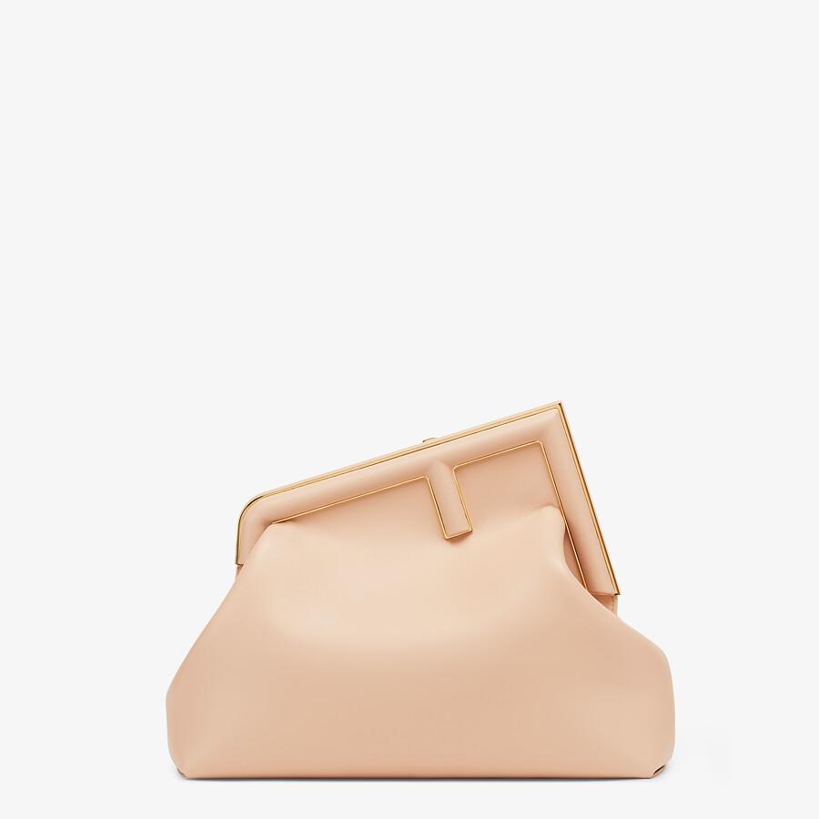 FENDI FENDI FIRST MEDIUM - Pink leather bag - view 1 detail