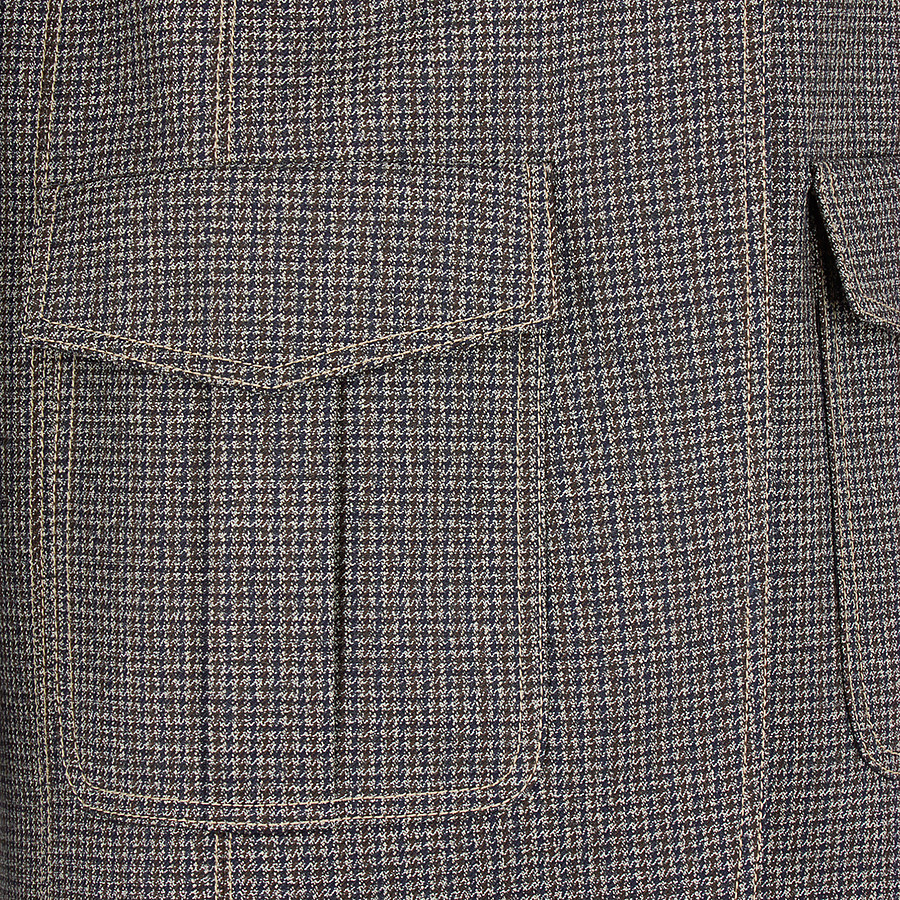 FENDI JACKE - Blazer aus Wolle in Mikrokaro - view 3 detail