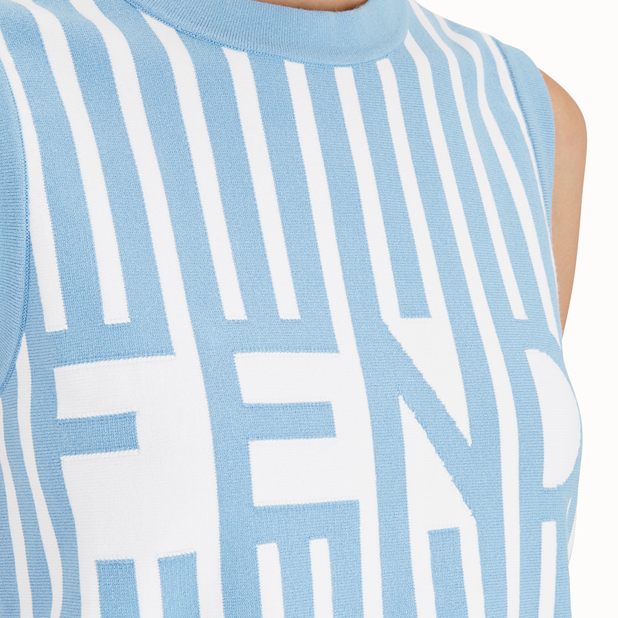 FENDI TOP - Multicolour fabric top - view 4 detail