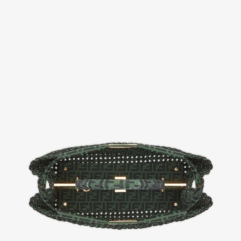 FENDI PEEKABOO ICONIC LARGE - Jacquard fabric interlace bag - view 5 detail
