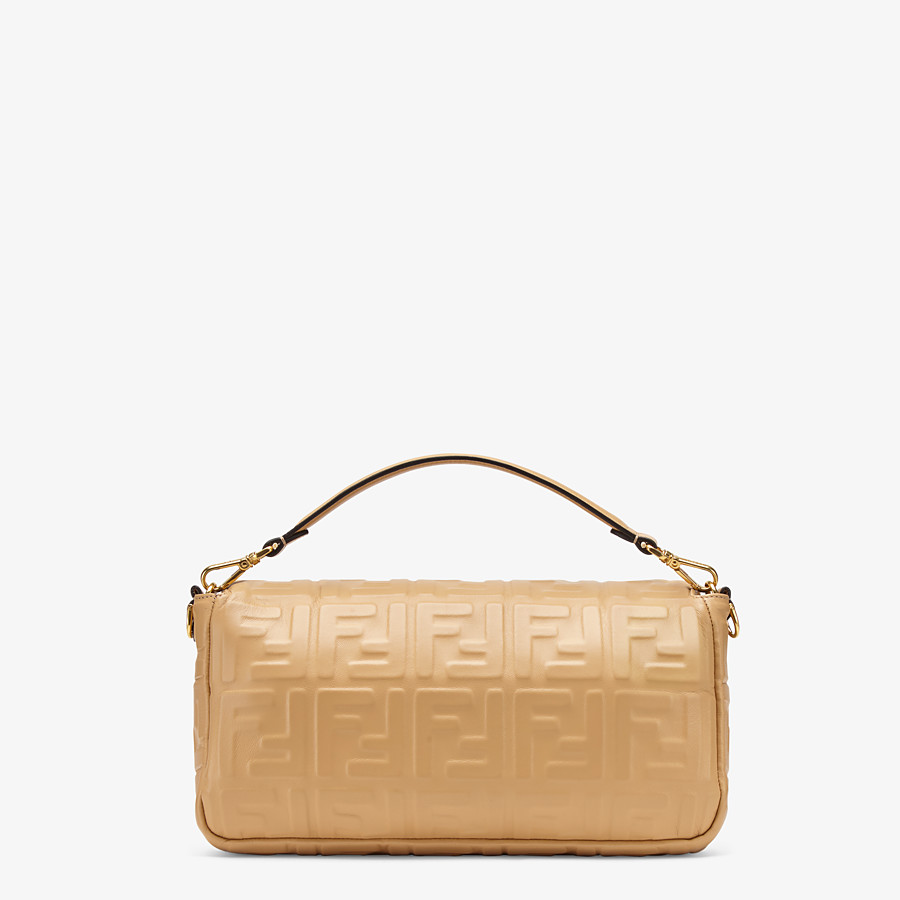 FENDI BAGUETTE LARGE - Beige leather bag - view 4 detail