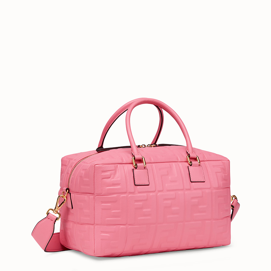 FENDI BOSTON SMALL - Pink leather Boston bag - view 2 detail