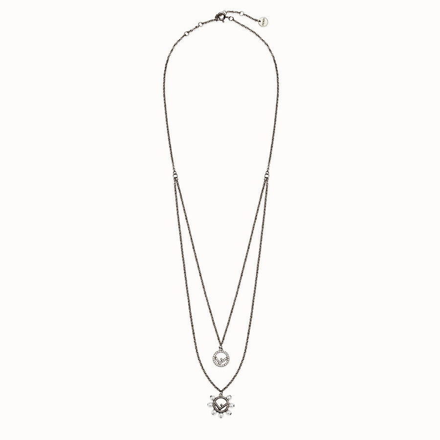 FENDI F IS FENDI NECKLACE - Ruthenium coloured necklace - view 1 detail