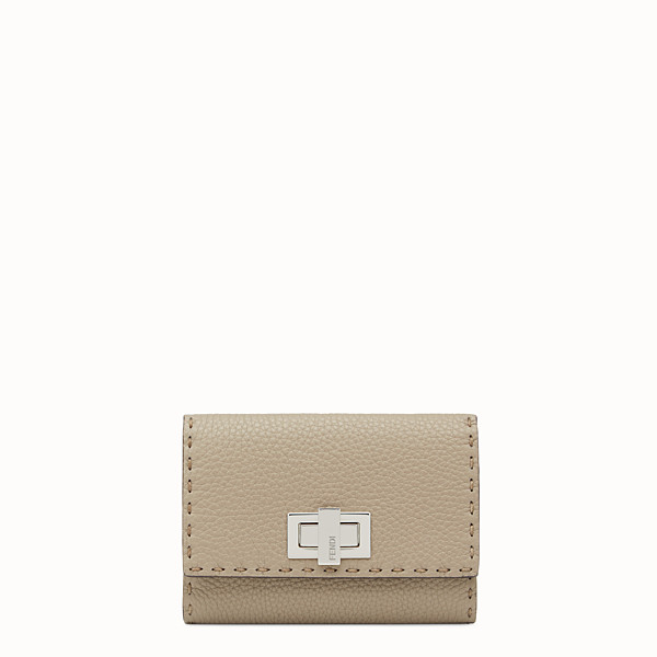 FENDI CONTINENTAL MEDIUM - Selleria medium beige continental wallet - view 1 small thumbnail