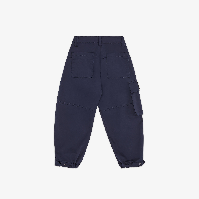 FENDI JUNIOR HOSE - Junior-Hose aus Baumwolle in Marineblau - view 2 detail