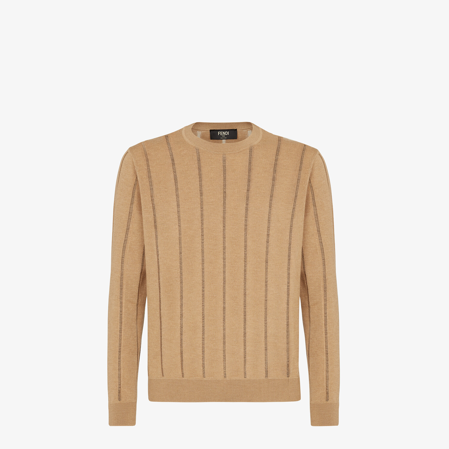 FENDI SWEATER - Brown wool sweater - view 1 detail