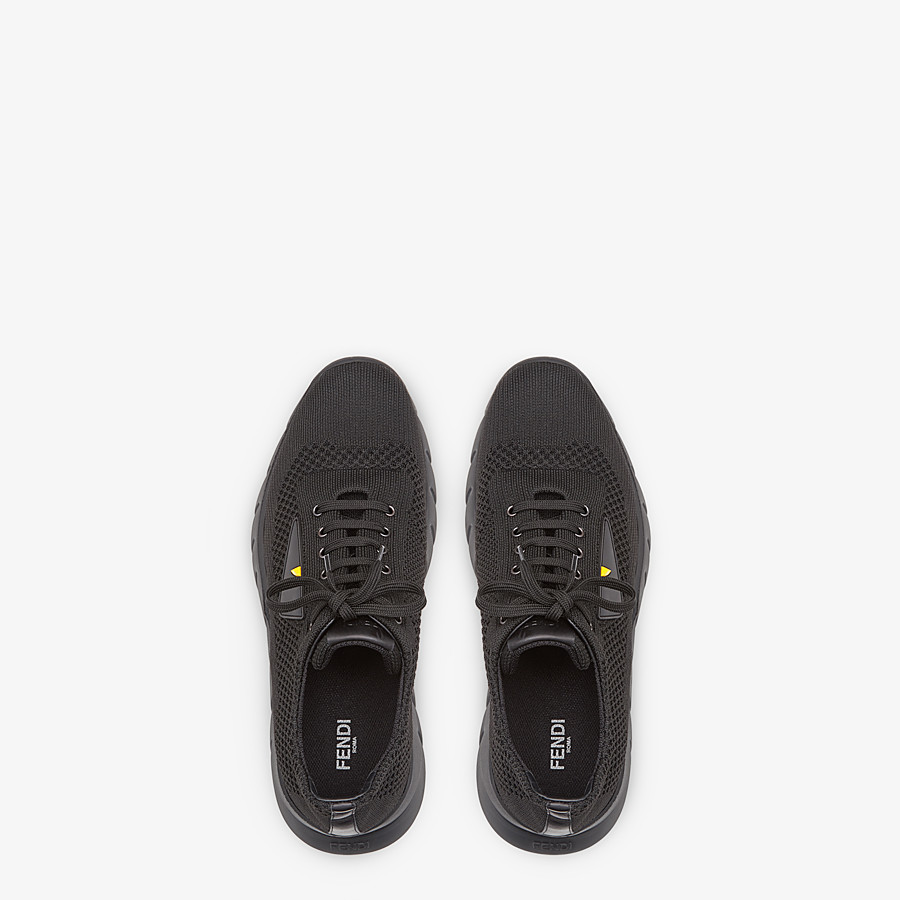 FENDI SNEAKERS - Black fabric runners - view 4 detail