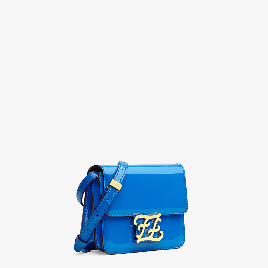 FENDI KARLIGRAPHY - Blue patent leather bag - view 2 detail