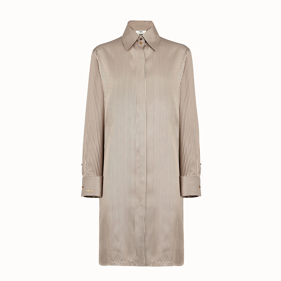 FENDI KLEID - Kleid aus Satin in Braun - view 1 detail