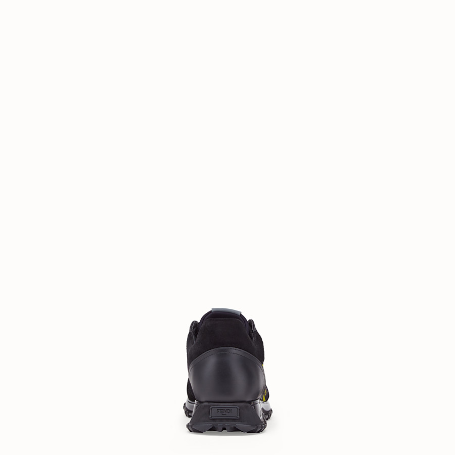 FENDI SNEAKERS - Black scuba low-tops - view 3 detail