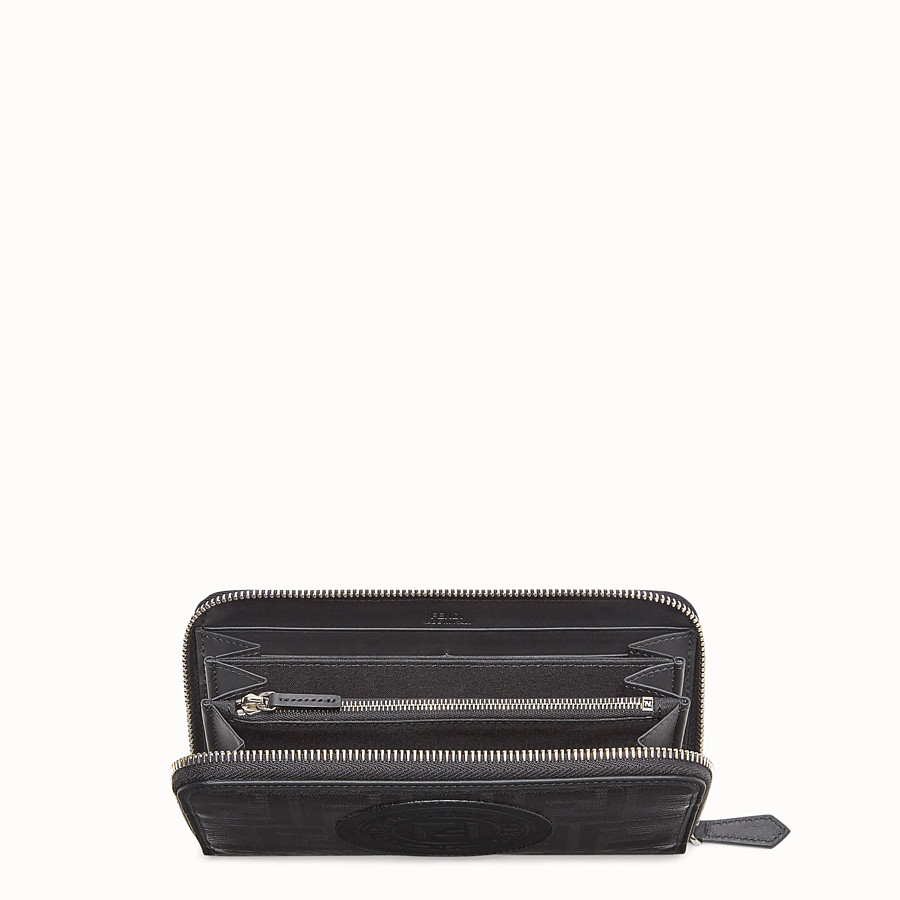 FENDI ZIP-AROUND - Black fabric wallet - view 3 detail