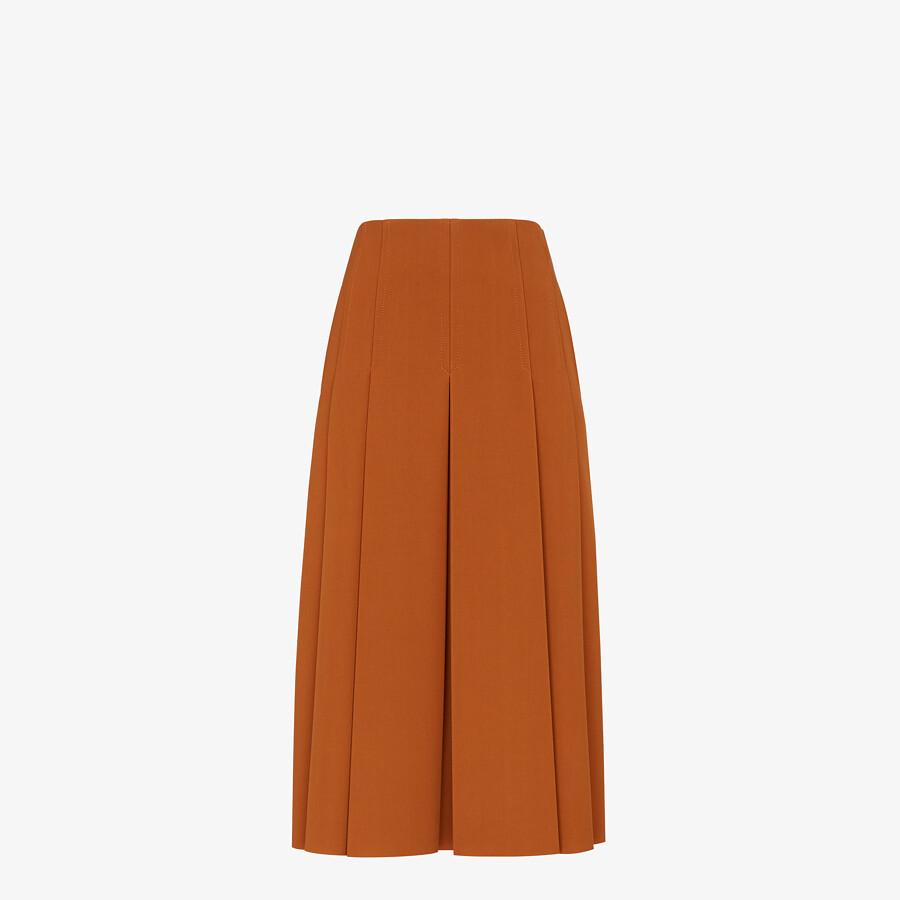 FENDI SKIRT - Brown gabardine skirt - view 1 detail
