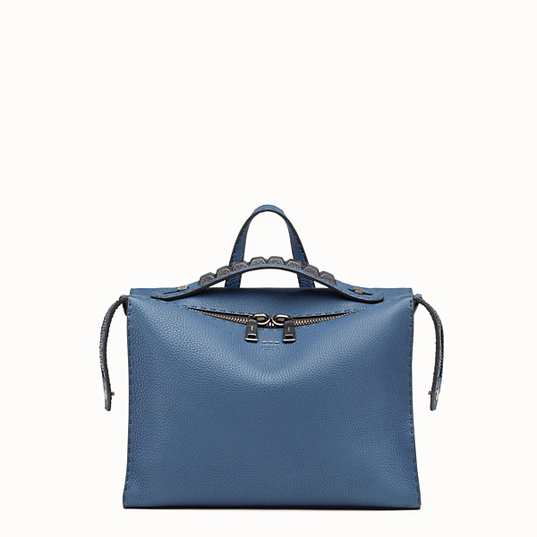 FENDI MESSENGER - Blue leather Selleria bag - view 1 small thumbnail