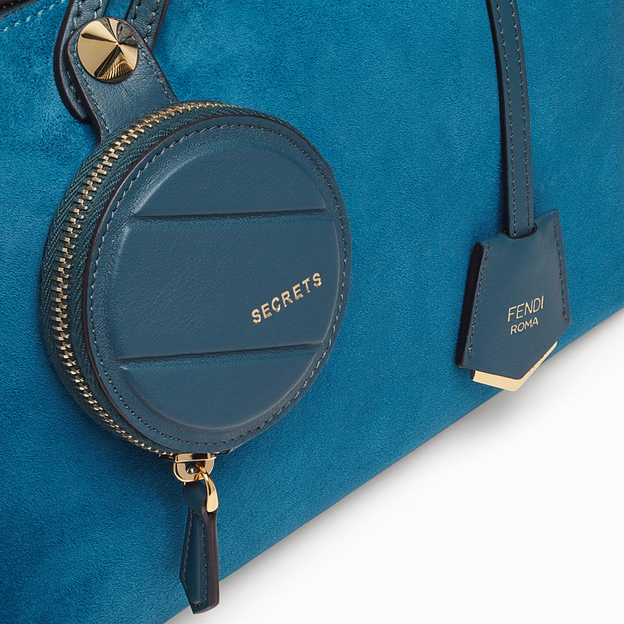 FENDI BY THE WAY MEDIUM - Blue suede Boston bag - view 5 detail