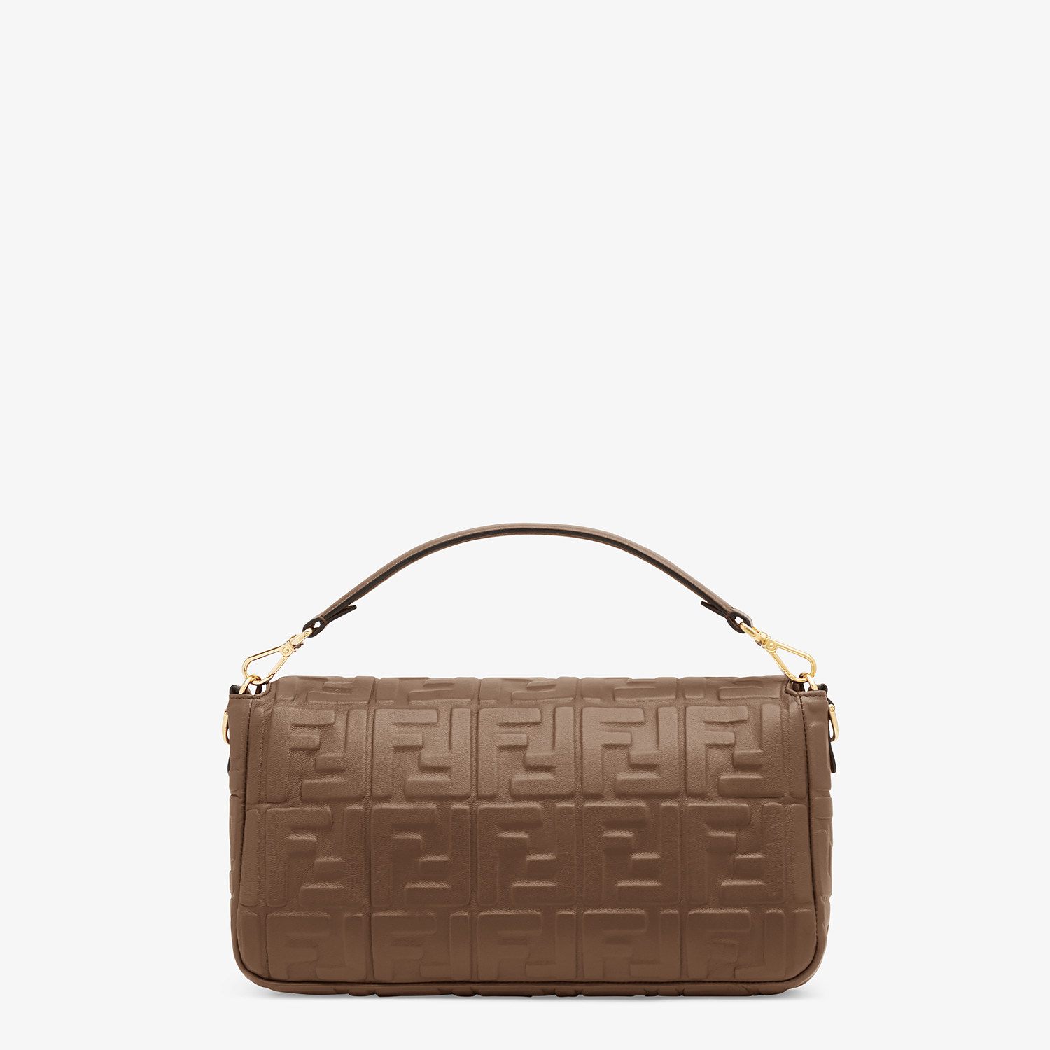 FENDI BAGUETTE LARGE - Brown nappa leather bag - view 3 detail