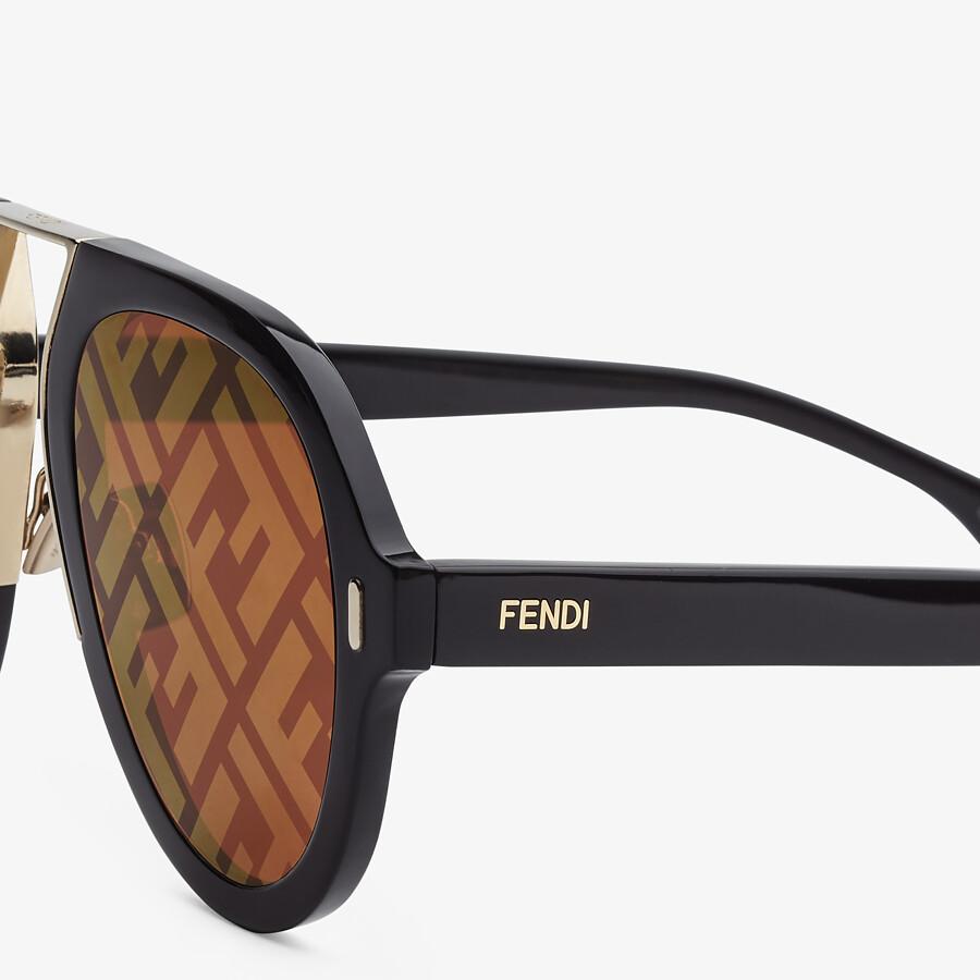 FENDI FENDI FORCE - Black sunglasses - view 3 detail